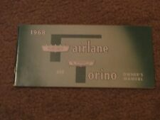 NOS 1968 FORD FAIRLANE TORINO RANCHERO GT FACTORY UNUSED ORIGINAL OWNERS MANUAL