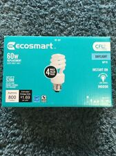 Ecosmart 60w 4 Bulb Pack 120 Volt 5000k