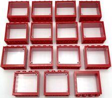 10 x 1x4x3 5 x 1x4x6 Windows avec verre LEGO lot de 15 Portes NEUF