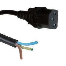 5m Bare Ends C13 IEC Kettle Lead 10A Power Cable PC Monitor Straight Connector