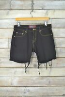 Vintage Levi's 514 Schwarz Distressed Denim Shorts (W29)