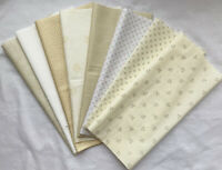 Moda, Makower etc Neutrals Fabrics Fat 1/8 pack - 1 metre. Patchwork