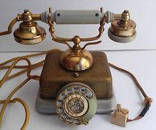 Vintage Rotary Retro Brass Metal Victorian Telephone