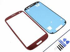 Vetro Frontale per Samsung Galaxy S3 Rosso Display Touchscreen Nuovo Originale