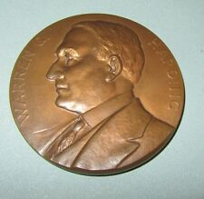 President Warren G. Harding 1923 Death Bronze Medal Medallion Signed Morgan 1922