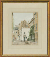 Glyn Martin - Signed & Framed 20th Century Watercolour, Abbey Green, Bath