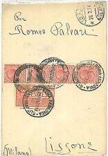ITALIA REGNO - STORIA POSTALE  - BUSTA ESPRESSO da ROMA a LISSONE Milano - 1921
