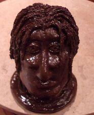 Student Artist White Clay BLM African Male Head Bust Sculpture Artwork