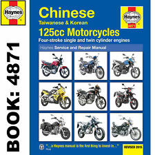 Haynes 4871 Repair Owners Manual Chinese Taiwanese Korean 125cc Motorcycles