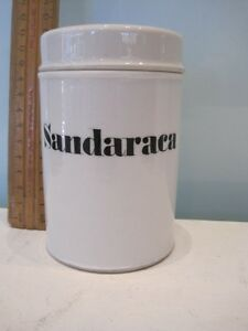 SANDARACA Chemist or Dentist Jar with lid ... in EXCELLENT Condition