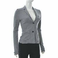 Marc o' Polo Donna Toppa Tasca Corto Giacca Cardigan Manica Lunga a Righe XS