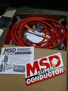 MSD 31659 8.5mm SUPER CONDUCTOR SB CHEVY SOCKET CAP IGNITION  WIRES 7/8 NEW LOOK