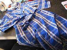 NWT - Mens RALPH LAUREN Blue Plaid Cotton Wrap Robe (SMALL/MED)