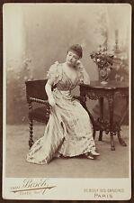 Mlle Deval, Actrice Théâtre, Cabinet Card, Photo Van Bosch.