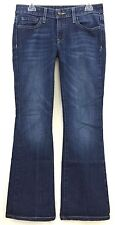 WILLIAM RAST FLARE LEG BLUE WASH DENIM JEANS WOMENS SIZE 27 30W x 31L