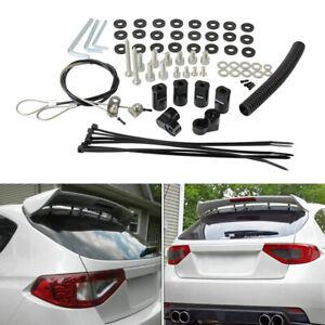 Rear Roof Spoiler Wing Riser Extension Kit For 2008-14 Subaru WRX STI Hatchback