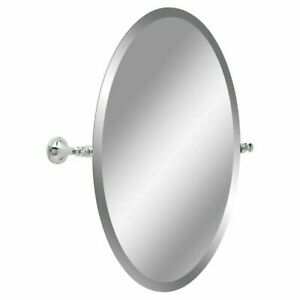 Hanging Chrome Wall Mirror in Chrome Delta Silverton 26 in. H x 22 in. W