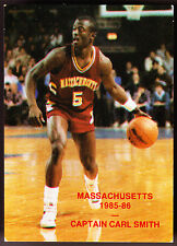 1985-86 UMASS MASSACHUSETTS MINUTEMEN NORTHAMPTON BASKETBALL POCKET SCHEDULE