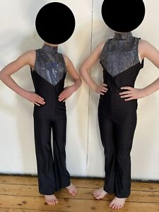 Starlite Black And Silver Skinsuits Catsuits Dance Costumes X 2