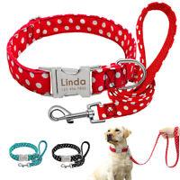 Personalisierte Hundehalsband Mit Gravur Namen Welpenhalsband und Leine S M L