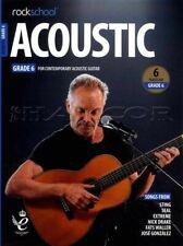 Rockschool Acoustic Guitar Grade 6 TAB & Music Book/Audio Exam from 2019 Rock