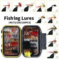 Fly Fishing Lure Set Simulation Butterfly Flies Hook Trout Lures Fishing Bait US