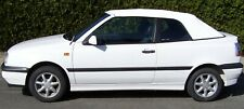 VW Golf 3 Cabrio Verdeckbezug PVC weiß incl. Einfaßung und Anleitung