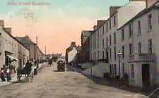 MAIN STREET BUNDORAN CO. DONEGAL IRELAND VALENTINES POSTCARD POSTED in 1909