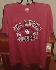 Oklahoma Sooners Football 47 Brand Mens Scrum T-Shirt NWT Medium