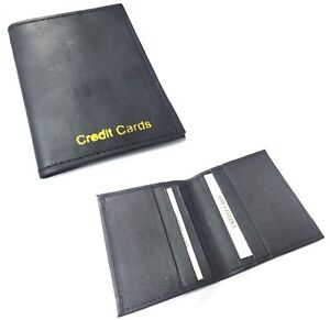 Handcrafted REAL LEATHER Credit Card Holder Wallet Bus Pass Ticket soft Slim 285