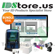 Datacard SD160 Single Side Complete Photo ID Card Printer System Bundle Deal