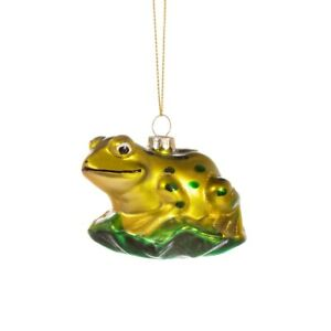 Sass & Belle Frog on a Leaf 3D Bauble Hanging Decoration Christmas Tree Xmas Fun