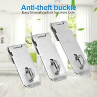Anti Theft Hasp Staple Shed Latch Stainless Steel Metal Door Lock Padlock Clasp