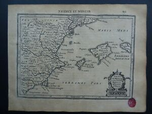 1630 Jansson / Mercator Atlas map  BALEARIC ISLANDS - MURCIA - VALENCIA - SPAIN