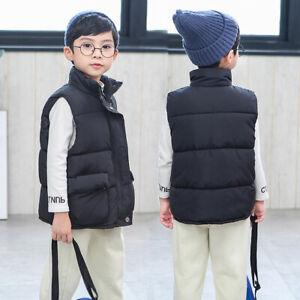 Kids Girls Boys Bodywarmer Gilet Padded Vest Puffer Jacket Baby Coat Outerwear