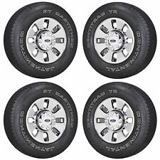"18"" FORD F250 F350 TRUCK PVD CHROME WHEELS RIMS TIRES FACTORY OEM SET 4 3690"
