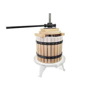 Fruit Wine Press Solid Wood Basket Cider Apple Berries Wine Making Winemaking