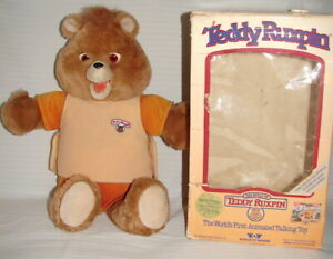 1986 TEDDY RUXPIN IN BOX WORLDS OF WONDER. AS IS