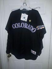 Colorado Rockies shirt Majestic MLB Rox baseball World Series Jersey NEW ~ L