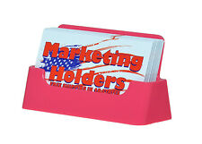 PINK Plastic Business Card Holder Display Stand Desk