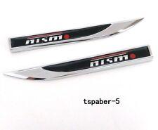 2Pcs Metal Nismo Emblem Knife Fender Badge Car Body Side Skirt Sticker