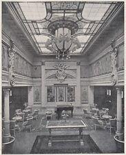 D2945 Transatlantico Conte Rosso - Sala da Musica - Stampa - 1922 vintage print
