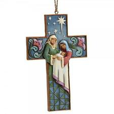 Heartwood Creek Jim Shore 4055129 Holy Family Cross Hanging Ornament