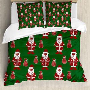 Géométrique Housse de Couette Père Noël présent