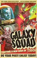 "Original LEGO Art Space Galaxy Squad 11""x17"" Poster"
