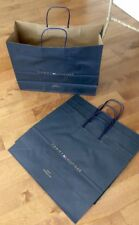 """75 Genuine Tommy Hilfiger Large16x12"""" Carrier Paper Raffia Handle Gift Bags New"""