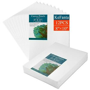 KeFanta 20.32 X 25.4CM Canvases for Painting -12 Pack Super Value Canvas Pane...