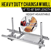 """Portable Chainsaw mill 48"""" Inch Planking Milling 14"""" to 48"""" Guide Bar"""