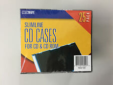 New 25 Pack Slimline CD DVD Blu-ray optical disc protective plastic jewel case