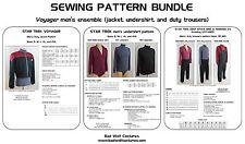 Star Trek Sewing Pattern Bundle - Starfleet uniform - Voyager (men's) - Save 10%